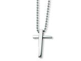 Chisel Stainless Steel Cross Necklace - 22 inches style: SRN175