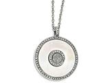 Chisel Stainless Steel Polished Mother Of Pearl/druzy Quartz And Crystal Necklace style: SRN176918