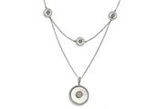 Chisel Stainless Steel Polished Mother Of Pearl Druzy Quartz And Crystal Necklace style: SRN17702125