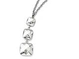 Chisel Stainless Steel Polished Hollow Squares Dangle Necklace style: SRN17821975