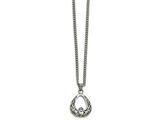 Chisel Stainless Steel Polished Claddagh Necklace style: SRN179218