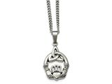 Chisel Stainless Steel Polished Trinity Knot And Claddagh Necklace style: SRN179418
