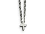 Chisel Stainless Steel Polished Cross Necklace style: SRN179816