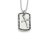 Chisel Stainless Steel Brushed, Polished And Antiqued 2 Piece Necklace style: SRN181022
