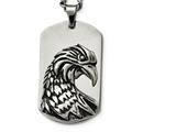 Chisel Stainless Steel Polished And Antiqued  Eagle Necklace style: SRN181222