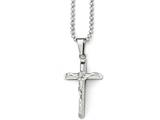 Chisel Stainless Steel Polished Cross W/jesus Necklace style: SRN181320