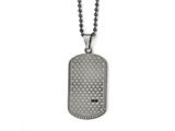 Chisel Stainless Steel Antiqued Polished And Brushed Cz Necklace style: SRN182222