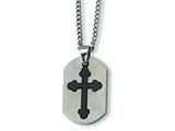 Chisel Stainless Steel Black Plated Cross Necklace - 22 inches style: SRN182