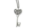 """Chisel Stainless Steel Polished Mom Lock N"""" Key Chain Slide Necklace style: SRN183420"""