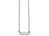 Chisel Stainless Steel Polished Mustache Necklace style: SRN184818