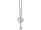 Chisel Stainless Steel Polished Key With Cross Necklace style: SRN185216