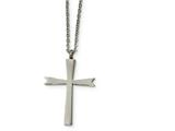 Chisel Stainless Steel Polished Cross Necklace style: SRN185318