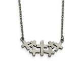 Chisel Stainless Steel Brushed And Polished Multi Cross Necklace style: SRN1857175