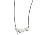 Chisel Stainless Steel Polished Peace Necklace style: SRN186618
