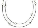 Chisel Stainless Steel Two Strand W/2in. Ext. Necklace style: SRN18691575