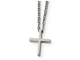 Chisel Stainless Steel Cross W/1.75in Ext Necklace style: SRN187118