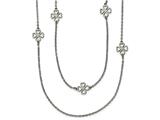 Chisel Stainless Steel Two Strand Clover Necklace style: SRN187228