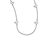 Chisel Stainless Steel Butterfly Necklace style: SRN187333