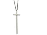 Chisel Stainless Steel Cross Necklace style: SRN187430