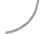 Chisel Stainless Steel Polished 3.10mm  Fancy Double Link Chain style: SRN188516