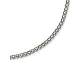 Chisel Stainless Steel Polished 3.10mm  Fancy Double Link Chain style: SRN188520