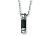 Chisel Stainless Steel Carbon Fiber Necklace