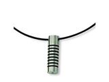 Chisel Stainless Steel Black Accent Necklace - 18 inches
