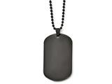 Chisel Stainless Steel Polished Black Ip Dog Tag Necklace style: SRN192420