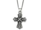 Chisel Stainless Steel Antique Cross Necklace style: SRN192724