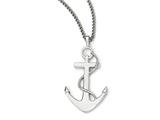 Chisel Stainless Steel Polished Anchor Necklace style: SRN195724