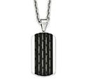 Chisel Stainless Steel Polished Black Ip-plated Dog Tag Necklace style: SRN198524