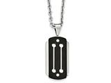 Chisel Stainless Steel Brushed And Polished Black Ip-plated Necklace style: SRN199424