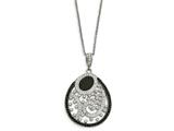 Chisel Stainless Steel Polished Agate And Preciosa Crystal Necklace style: SRN200518