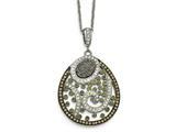 Chisel Stainless Steel Polished Druzy And Preciosa Crystal Necklace style: SRN200618