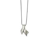 Chisel Stainless Steel Polished Awareness Pendant Necklace style: SRN202020
