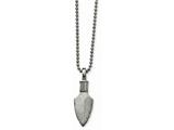 Chisel Stainless Steel Polished/brushed Arrow Head Necklace style: SRN203622