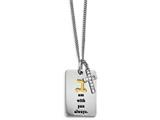 Chisel Stainless Steel Yellow Ip-plated W/ Cz Cross  Necklace style: SRN2115205