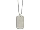 Chisel Stainless Steel Brushed Dogtag Necklace style: SRN211722
