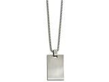 Chisel Stainless Steel Brushed And Scratch Finish Rectangle Necklace style: SRN211822