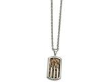 Chisel Stainless Steel Polished Enameled Camo Bullet Dogtag Necklace style: SRN212624