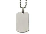 Chisel Stainless Steel Polished Rounded Edge 2mm Thick Dog Tag Necklace style: SRN213424