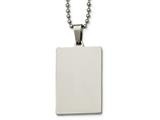Chisel Stainless Steel Polished Squared 2mm Thick Dog Tag Necklace style: SRN214024