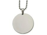 Chisel Stainless Steel Polished Circle 2mm Thick Dog Tag Necklace style: SRN214224