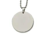Chisel Stainless Steel Polished Circle 4mm Thick Dog Tag Necklace style: SRN214324