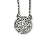 Chisel Stainless Steel Polished Cz 2mm Necklace style: SRN215218