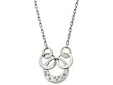 Chisel Stainless Steel Polished Cz Circle Necklace style: SRN215618