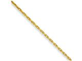 Chisel Yellow Rhodium Over Brass 2.50mm Plated Fancy Chain style: SRN21616