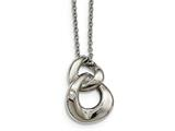 Chisel Stainless Steel Polished Two Loop 2 Cz Necklace style: SRN216318