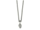 Chisel Stainless Steel Polished Crystal Skull Necklace style: SRN216418