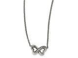 Chisel Stainless Steel Polished Cz W/2in. Ext. Necklace style: SRN2165155